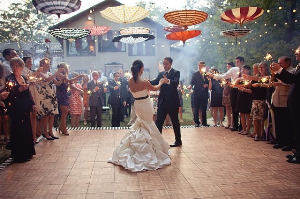 baile con paraguas