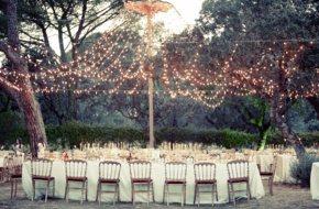 Decoración colgante para bodas al airelibre