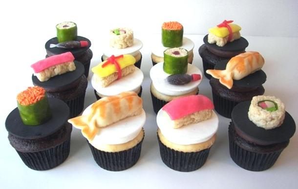 cupcakes sushi