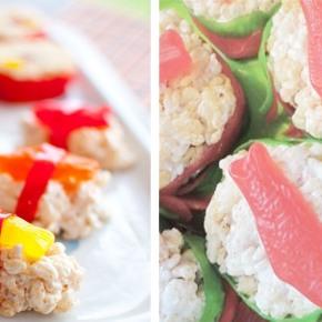 Candy bar con sushi degolosinas