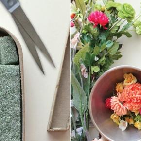 DIY: letras decoradas conflores