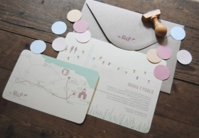 Invitaciones de boda muy craft
