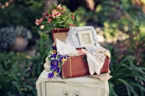 Rincones decorados con maletasvintage