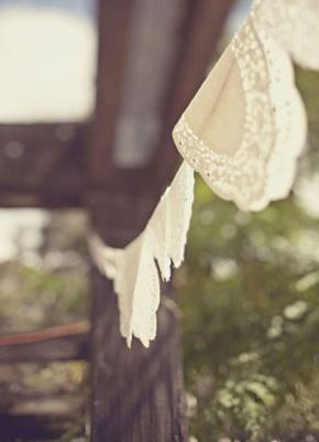 Ideas súper chulas con blondas de papel para lasbodas