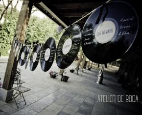 Discos de vinilo para la boda de Jessica yLuis
