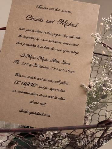 tarjeta boda en draft