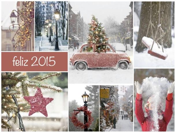 composición de fotos de navidad