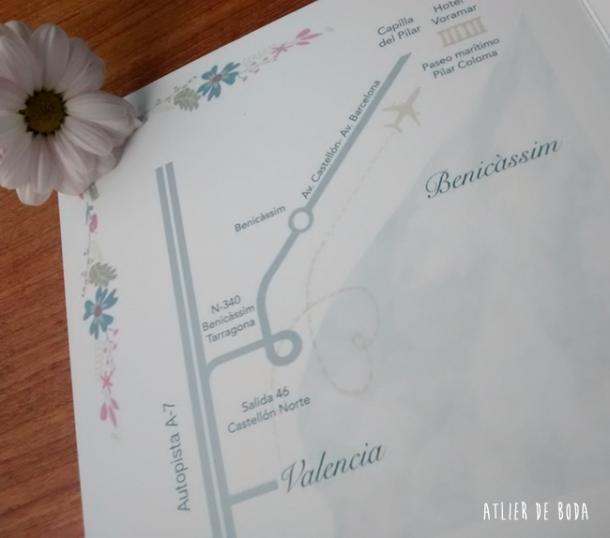 mapa cómo llegar Valencia Benicassim