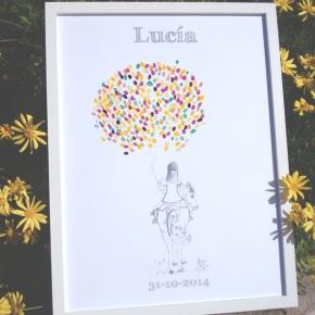 Un árbol de huellas: el regalo de cumpleaños para Lucía🎁